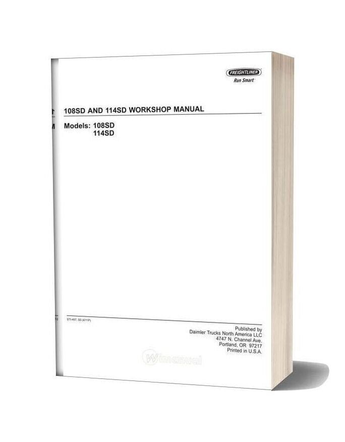 Freightliner 108sd And 114sd Workshop Manual In 2020 Freightliner Manual Workshop