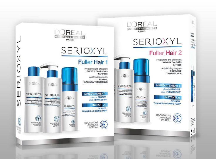 L'Oréal Professionnel Serioxyl Fuller Hair Kits.