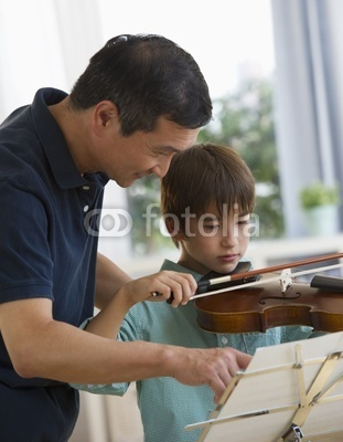 teach son to play instruments