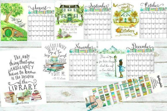 2019 Literary Calendars | Etsy | Bookish | Quote prints