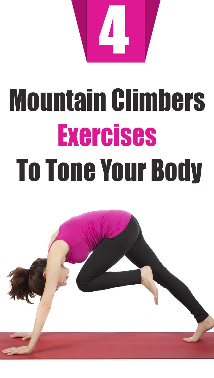 Standing mountain climber exercise