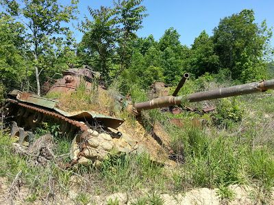 Eerie Indiana: Fort Knox tank graveyard - Fort Knox military base