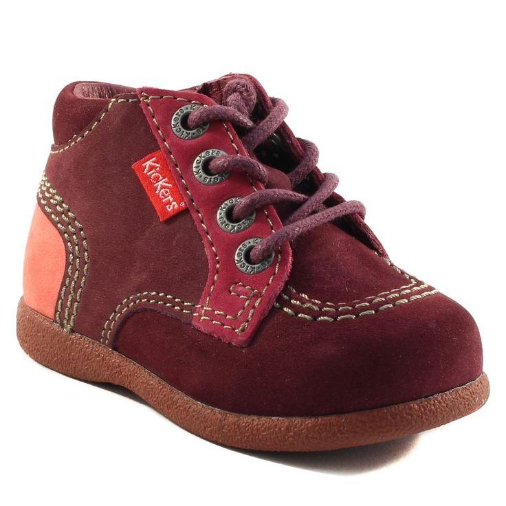 152A KICKERS BABYSTAN BORDEAUX www.ouistiti.shoes le spécialiste internet  #chaussures #bébé, #enfant, #fille, #garcon, #junior et #femme collection automne hiver 2016 2017