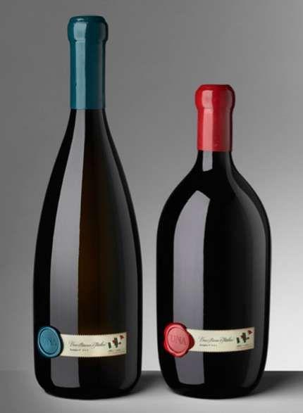 UNA Wine Packaging #packaging #wine #design