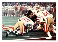 The 49ers playing against the Bengals in Super Bowl XVI.