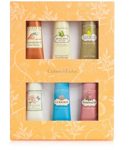 Crabtree & Evelyn Lovely Hands - Hand Therapy Sampler 25ml 6pcs Set by Crabtree & Evelyn. $29.24. Set of 6 (25mL) Hand Therapy Tubes. Crabtree & Evelyn Lovely Hands - Hand Therapy Sampler. Contains one each of the following: Gardeners, Avocado, Citron, Summer Hill, La Source and Rosewater hand therapy tubes.. All you need for velvety soft hands and wonderfully smooth skin can be found inside this pretty botanical-print box. The perfect way to sample our award-winning hand t...