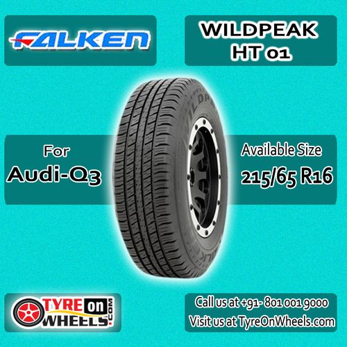 Buy Audi Q3 Tyres Online of Falken Wildpeak HT 01 Tubeless Tyres Size 215/65R 16 and get fitted with Mobile Tyre Fitting Vans at your doorstep at Guaranteed Low Prices buy now at http://www.tyreonwheels.com/tyres/Falken/WILDPEAK-HT01/1282