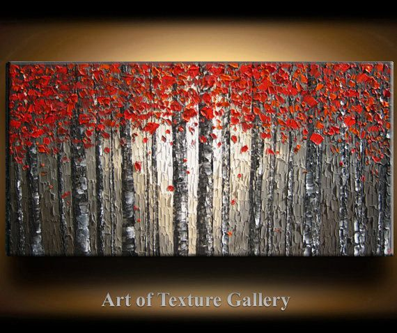 Huge 72 x 30 Custom Oil Impasto Painting Original by artoftexture