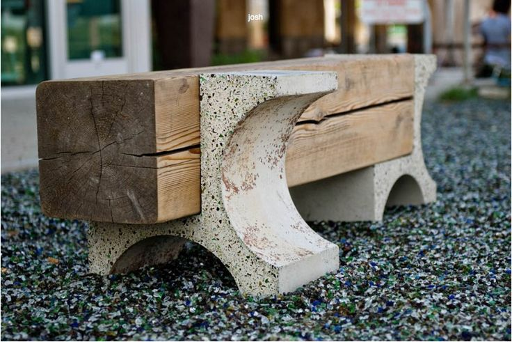 Bench - concrete & timber