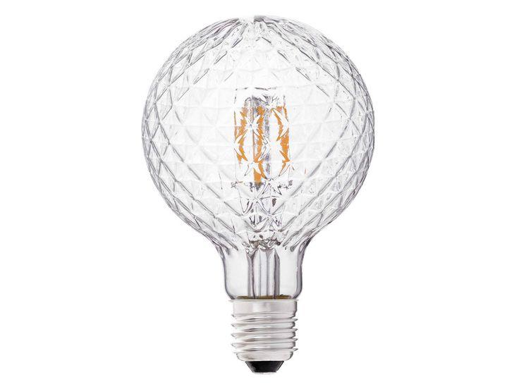 Caractéristiques techniques : Ampoule LED globe filament Matière : verre Dimensions : Diamètre : 9.5 cm Hauteur : 13.8 cm Ampoule LED culot E27 ...