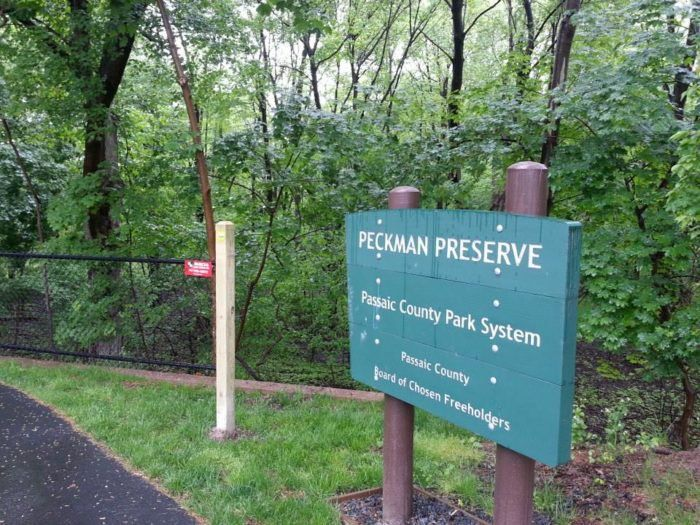 Head down the stairs and you'll find a 12-acre nature preserve, established in 2001. In recent years, hiking/biking trails have been added.