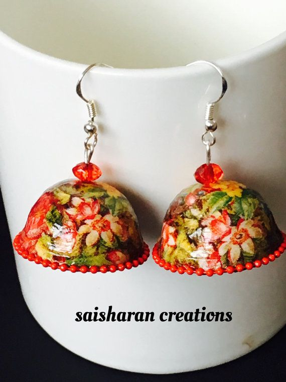 Quilling Floral Jhumkas
