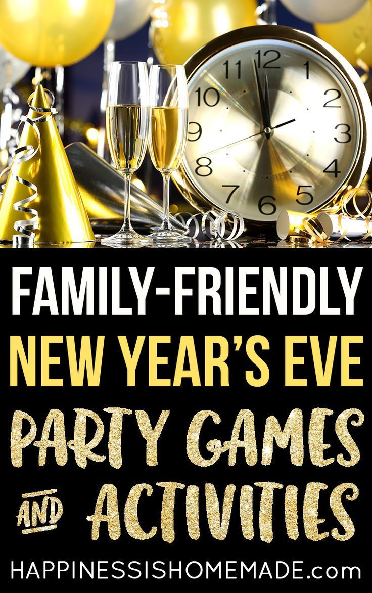 New Year's Eve Party Games & Activities - Planning an all-ages New Year's celebration? Check out this list of fun family-friendly New Year's Eve Party Game Ideas and Activities to help make your party perfect!
