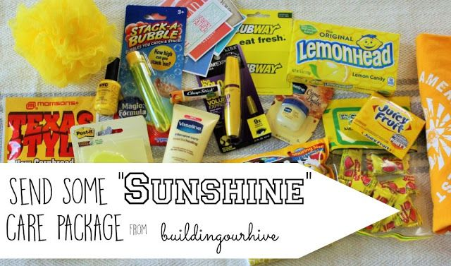 Building Our Hive: Send some SUNSHINE care package- Tag Printable