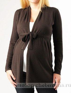 Вязанные свитера для беременных модели