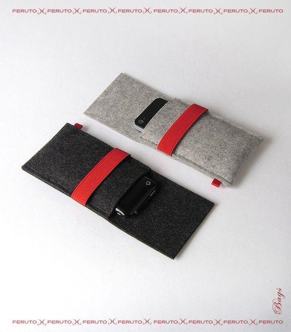 iPhone sleeve LITTLE WOLF german woolen felt case door FERUTOBags