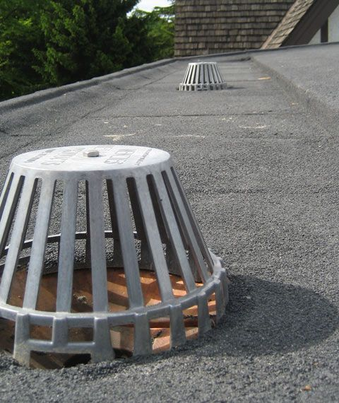 Roof Drain Gutter Drain Basket Detail