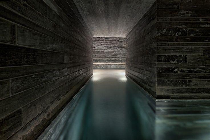 steam room sauna vals zumthor - Google Search
