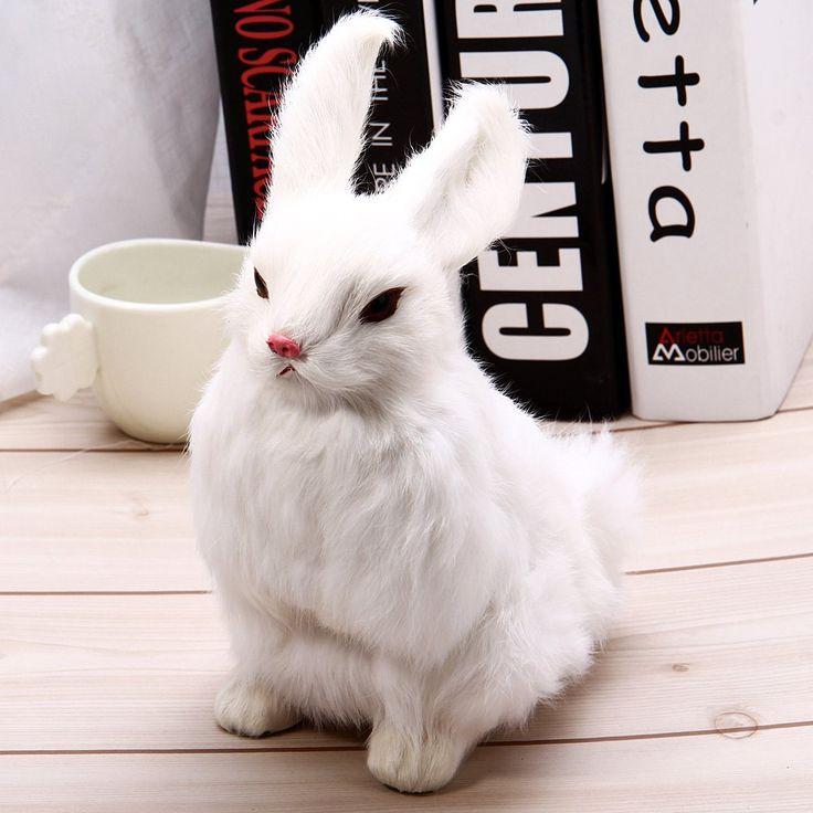 3 видов милые животные пасхальный заяц моделирование пушистый на корточках кролик рождество подарок на день рождения главная свадебные украшения купить на AliExpress