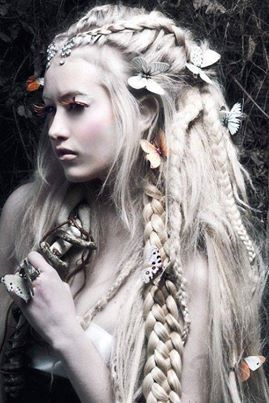 braids and flowing hair