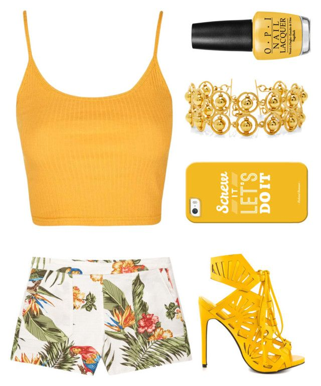 """""""Untitled #196"""" by gabrielledixon ❤ liked on Polyvore featuring MANGO, Topshop, Privileged, Casetify, Laura Davila and OPI"""