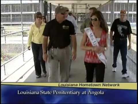 Miss Louisiana visits Louisiana State Penitentiary at Angola