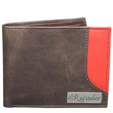 Personalised Brown Red Gents Wallet Have a stylish Personalized Leather wallet with your name to hold money, credit cards, visiting cards, ID cards and more. #giftsforfiancemale