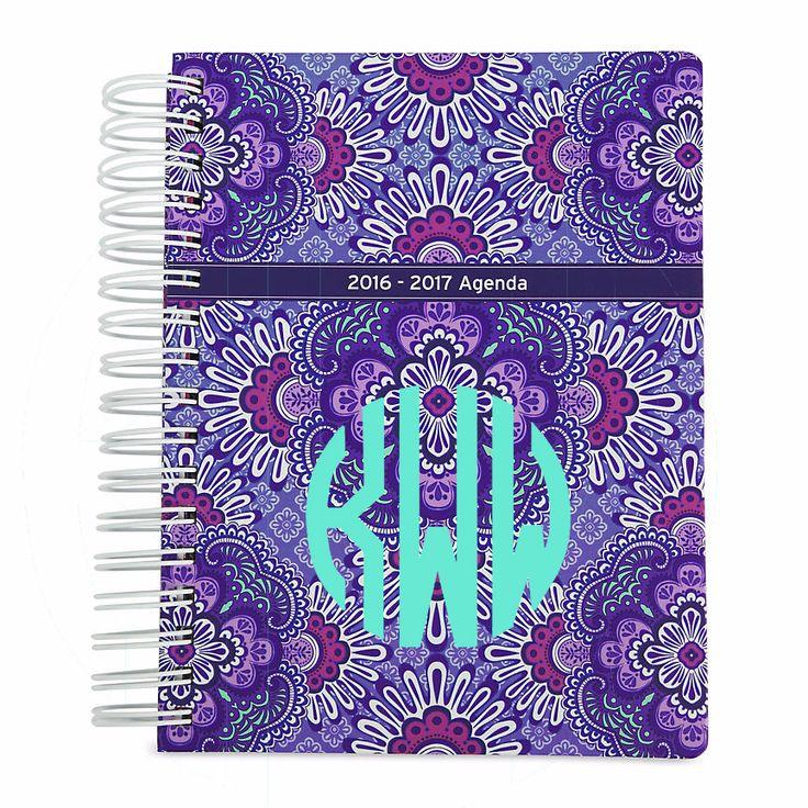 Something You - Lilac Tapestry Vera Bradley Agenda - Optional Monogram - 2016 - 2017, $25.00 (http://www.somethingyou.com/new/lilac-tapestry-vera-bradley-agenda-optional-monogram-2016-2017/)