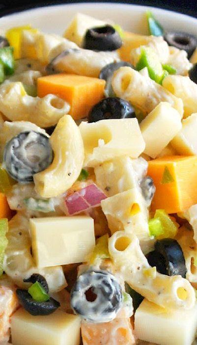ENSALADA DE PASTA Y QUESO (Cheesy Picnic Pasta Salad) #RecetaParaPicnics #RecetasConPasta