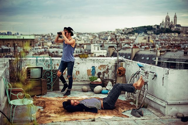 this is paris / a lovely rooftop