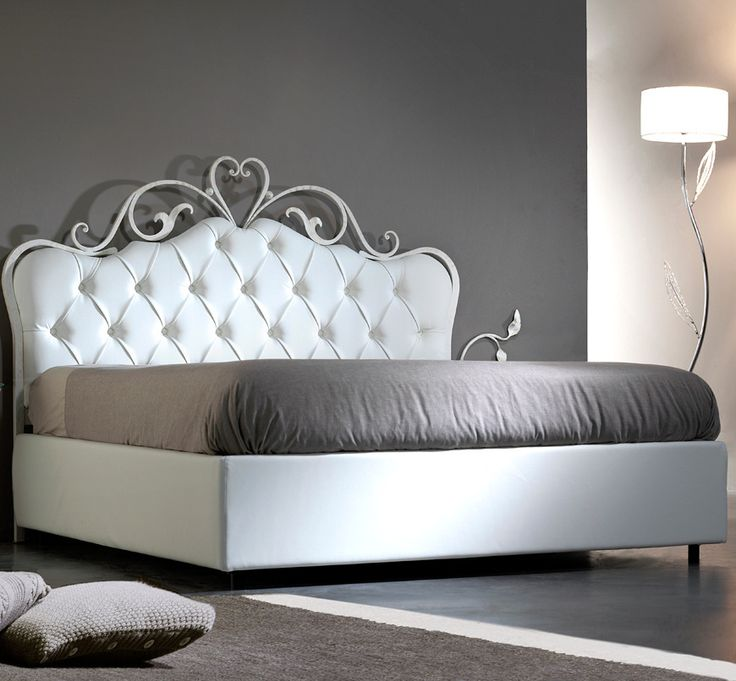 Forms Bed  The royal flair of this bed makes it stand out. This is a very exclusive centrepiece for your bedroom and a great asset to your house in general.  The wrought iron frame gives durability, resistance and reliability to the bed in general.