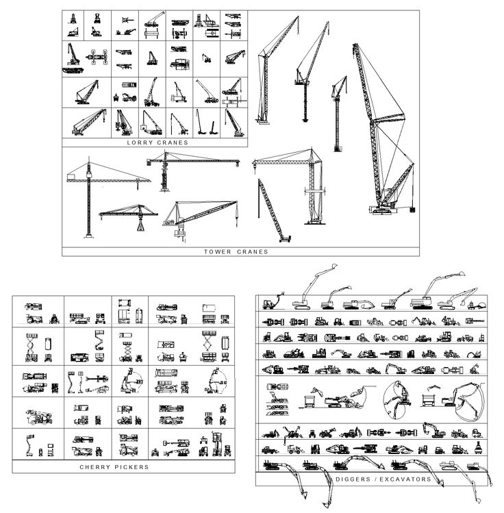 This Cad Drawing Comprises Truck Mounted Cranes Side