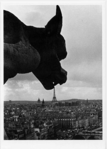 Robert Doisneau -Gargoyle at Notre-Dame, Paris