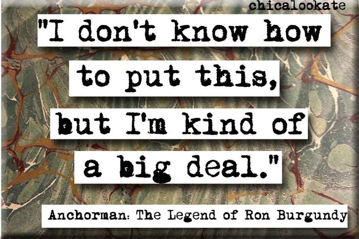 Kind of a Big Deal Ron Burgundy Anchorman Movie Quote Refrigerator Magnet or Pocket Mirror (no.497)
