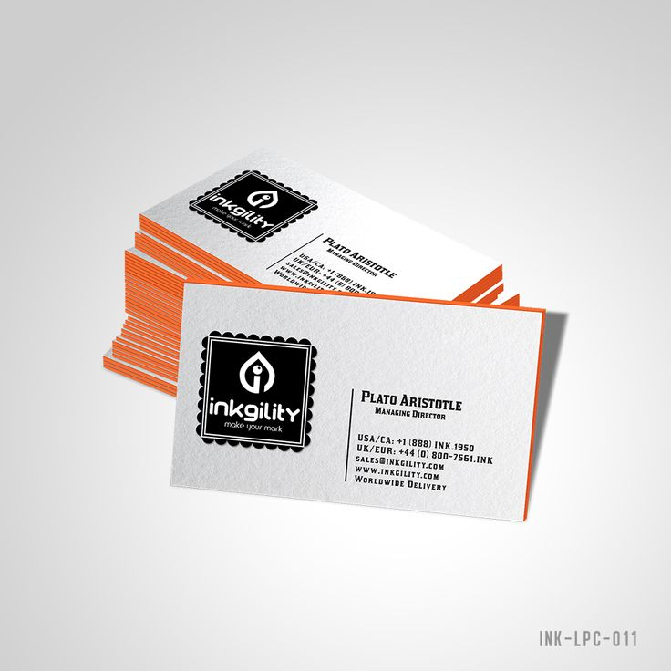 42 best Letterpress Business Cards (Economy Collection) images on ...