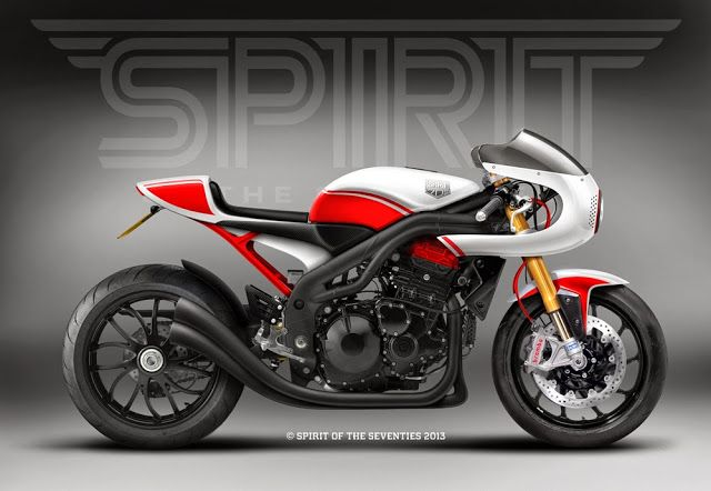 Cafè Racer Concepts - Triumph Speed Triple 1050 2008  By Spirit of the Seventies
