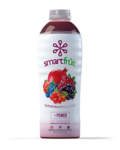 Smartfruit Superfruit All-Stars, 100% Real Fruit Smoothie Mix, No Added Sugar, Non-GMO, No Additives, Vegan, Family Pack 48 Fl. Oz (Pack of 1)