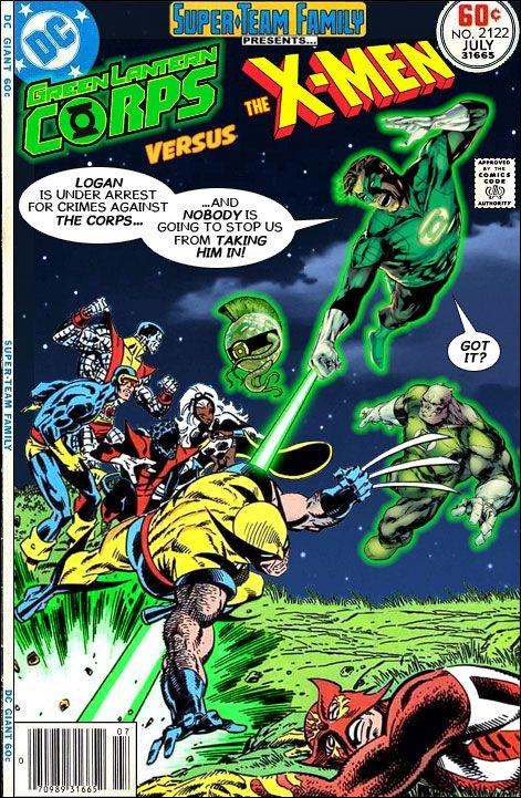 The Green lantern Corps VS the X-Men