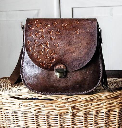 8cb716231 Kožená retro kabelka *čokoláda* / Lu.Si.L   moje veci