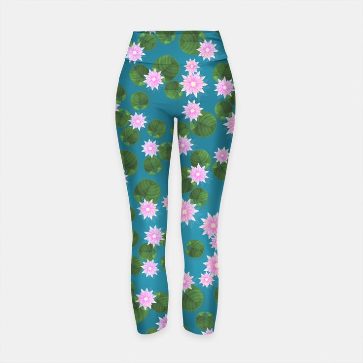 Water Lily Yoga Pants, Live Heroes