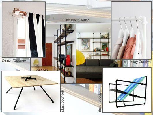 die besten 17 ideen zu m bel aus rohren auf pinterest. Black Bedroom Furniture Sets. Home Design Ideas