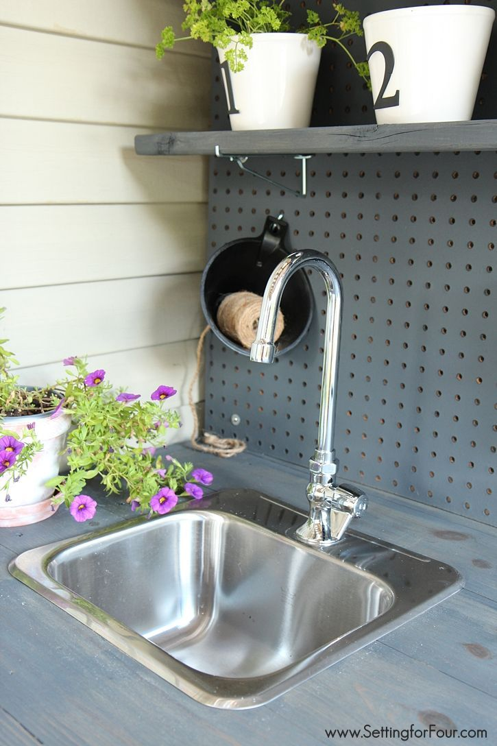 Make It Diy Potting Bench With Sink Potting Bench With