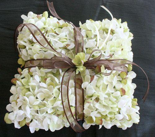 Hydrangea Flower Ring Pillow