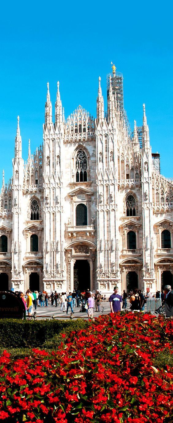 At the Milan Cathedral   in Lombardy, Italy.