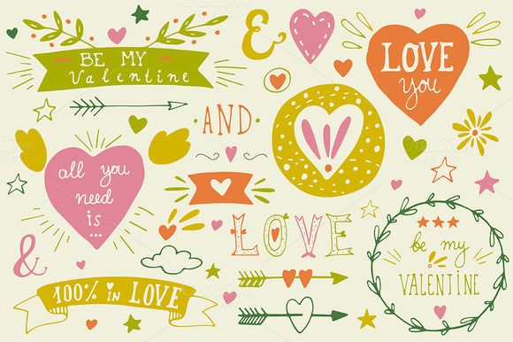 FREE DOWNLOAD: Check out Let me be your Valentine.. | pack by Blue Ink Studio on Creative Market
