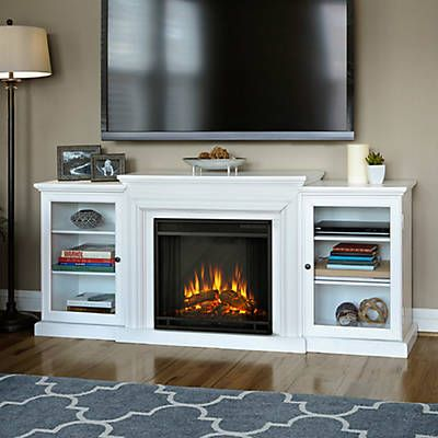 Real Flame Frederick Entertainment Center with Electric Fireplace; White