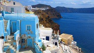 Santorini, Grecia, Casas Blancas