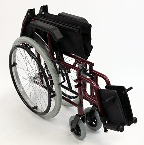 Karman LT-980-BD-E 24 Pound Ultra Lightweight Wheelchair In Burgundy Color with Elevating Leg Rest, Burgundy - http://wheelchairshandy.com/karman-lt-980-bd-e-24-pound-ultra-lightweight-wheelchair-in-burgundy-color-with-elevating-leg-rest-burgundy/