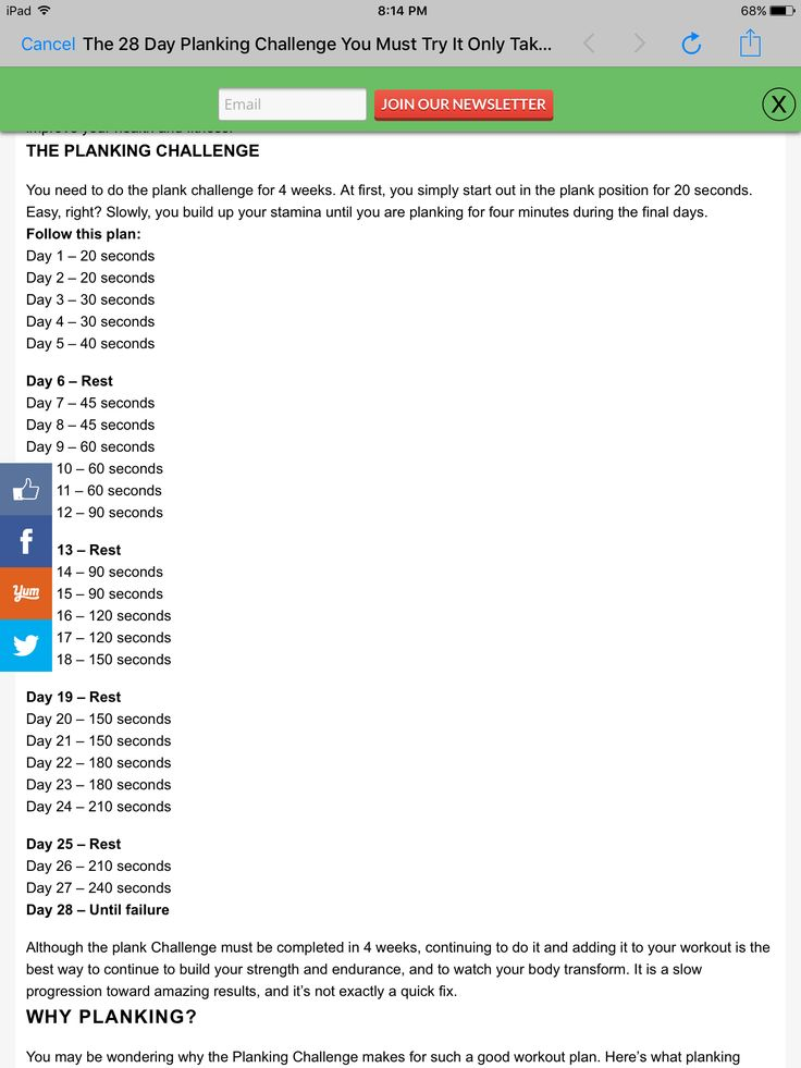 Pin by Becky FosterLopez on Fitness Plank challenge