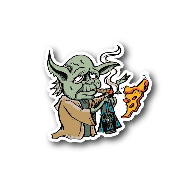 Green Creature Tokin' Sticker   Vinyl Stickers   Marijuana Stickers   Clear Stickers